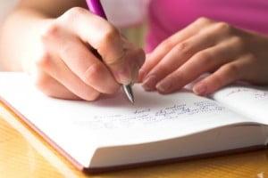 Writing at testimonial